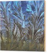 Ice Feathers Wood Print