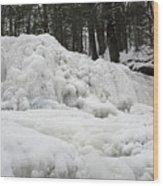 Ice Formations At Garwin Falls Wood Print