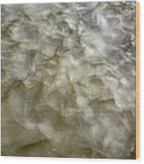 Ice Formations During The Winter Months Wood Print