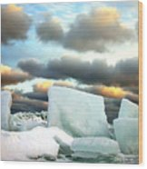 Ice Henge Wood Print by David April