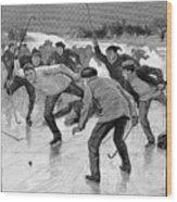 Ice Hockey, 1898 Wood Print by Granger