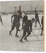 Ice Hockey 1912 Wood Print