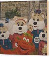 Ice Hog Family Wood Print