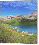 Ice Lakes Basin  Wood Print