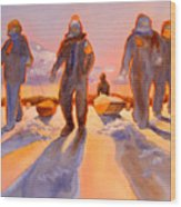 Ice Men Come Home Wood Print