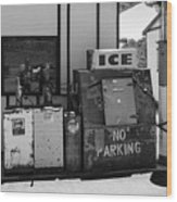 Ice - No Parking Wood Print