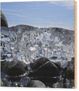 Ice On Rocks 3 Wood Print