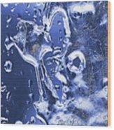 Ice Patterns 1  Wood Print