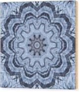 Ice Patterns Snowflake Wood Print