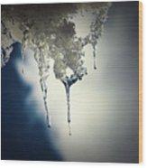 Ice Photo 4 Wood Print
