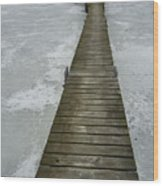 Ice Pier Wood Print
