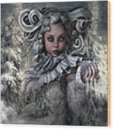 Ice Princess 004 Wood Print