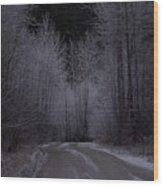 Ice Road Wood Print