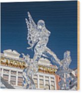 The Annual Ice Sculpting Festival In The Colorado Rockies, The Allure Of A Siren Wood Print