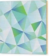Ice Shards Abstract Geometric Angles Pattern Wood Print