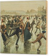 Ice Skating, C1886 Wood Print