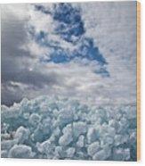 Ice Wall II Wood Print