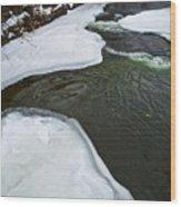 Ice Whirlpool Wood Print