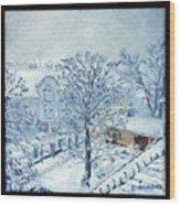 Ice White Wood Print