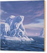 Icebeargs Wood Print by Jerry LoFaro