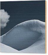 Iceberg And Cloud Wood Print