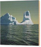 Iceberg in the Labrador Sea Wood Print