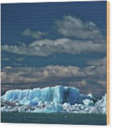 Iceberg In Viedma Lake - Patagonia Wood Print