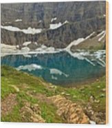 Iceberg Lake Glacier Wood Print
