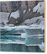 Iceberg Lake Icebergs Wood Print