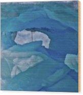 Iceberg Window Wood Print