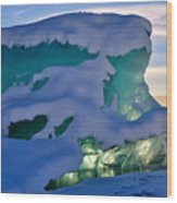 Iceberg's Glow - Mendenhall Glacier Wood Print
