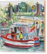 Icecream Boat In York Wood Print