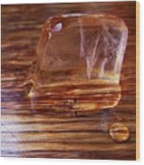 Icecube Trail Wood Print