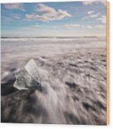 Iceland And Glaciers Wood Print