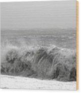 Iceland Black Sand Beach Wave Five Wood Print