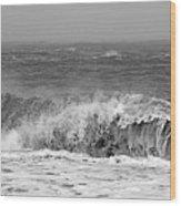Iceland Black Sand Beach Wave One  Wood Print