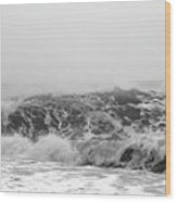 Iceland Black Sand Beach Wave Three Wood Print