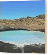 Iceland Blue Lagoon Exploring The Lava Fields Wood Print