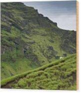 Iceland Hill Wood Print