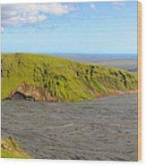 Iceland Landscape Near Vik Wood Print