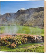 Iceland Landscape Panorama Wonderful Colors Wood Print