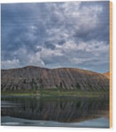 Iceland Mountain Reflections  Wood Print