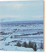 Iceland Mountains Lakes Roads Bridges Iceland 2 2112018 0945 Wood Print