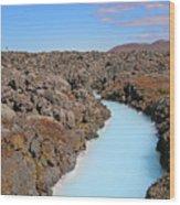 Iceland Tranquil Blue Lagoon  Wood Print