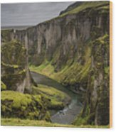 Iceland Valley Wood Print