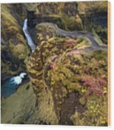 Icelandic Autumn Wood Print
