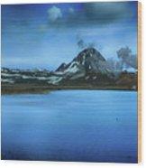 Icelandic Blue Wood Print