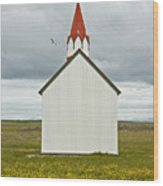 Icelandic Church Wood Print