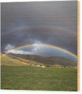 Icelandic Rainbows Wood Print