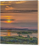 Icelandic Sunset Wood Print